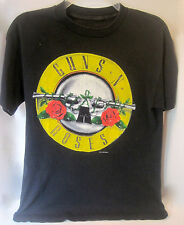 RARE GUNS N' ROSES WAS HERE 1987 CONCERT TOUR PROMO T-SHIRT SHIRT AUTHENTIC ORIG
