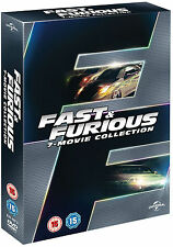 FAST AND FURIOUS 1 2 3 4 5 6 & 7 1-7 Complete Collection Boxset NEW DVD
