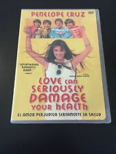 LOVE CAN SERIOUSLY DAMAGE YOUR HEALTH DVD PENELOPE CRUZ
