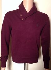 BNWT Mens Ralph Lauren Ribbed Purple (wine) Shawl Neck Jumper size XS RRP £120