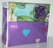 DISNEY FAIRIES TINKERBELL  FULL SHEET COTTON RICH  FOUR PIECE BEDSHEET SET