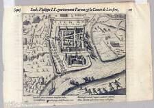 Duisburg - Ruhrort - Roerort - Kupferstich aus Baudartius 1616