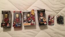 Iron Man Wolverine Bobblehead Wacky Wobbler Mighty Muggs Toy 6 Figure Set *NEW*