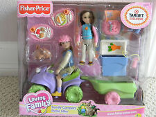 2004 Fisher Price Loving Family Dollhouse Family Campers Picnic Hike RARE