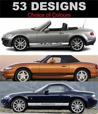 Mazda mx5 side stripe decals choice of design fit mx5
