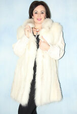 7743 BLAUFUCHS PELZMANTEL PELZ BLUE FOX FUR COAT SWINGER LEDER ПЕСЦОВАЯ ШУБА