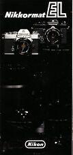 Nikkormat El Original Desplegable Folleto-Nippon Kogaku, Impreso En Japón