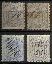 1204-SELLOS CLASICOS ESPAÑA FISCALES AÑO 1875 IMPUESTO DE VENTAS CATALOGO EDIFIL