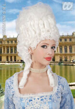 LADIES DELUXE BIG MARIE ANTOINETTE WHITE FANCY DRESS PERIOD POMPADOUR WIG NEW