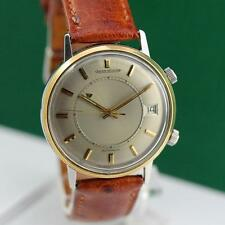 JAEGER LECOULTRE MEMOVOX STEEL/GOLD AUTOMATIC DATE MEN'S WATCH