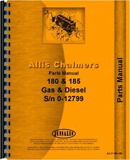 Allis Chalmers 180 (SN6644-12985) 185 (SN1001-12799) Tractor Parts Manual