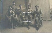 Belgien Res.Inf.Regt.Nr.212-Offiziere mit Ordensspange-Säbel-Revolver (t165)
