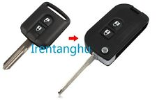 NISSAN MICRA NAVARA QASHQAI MURANO X-TRAIL 2 BUTTON FLIP KEY FOB CASE CONVERSION