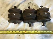 3x Mini Digger Bottom Rollers (Spare Part) Rubber? steel? (6)