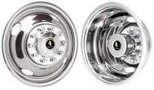 """FORD F450 F450 F-53 16"""" 10 LUG STAINLESS STEEL WHEEL COVER HUBCAP LINERS SET (4)"""