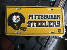 NFL FOOTBALL PITTSBURG PA STEELERS BOOSTER FRONT LICENSE PLATE