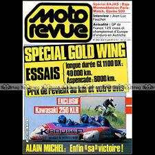 MOTO REVUE N°2663 KAWASAKI KLR 250 HONDA GOLDWING GL 1100 DX 1200 ASPENCADE 1984