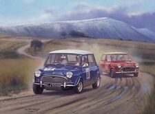 Austin Morris Mini Cooper Rally Rallying Car Motorsport Birthday Card