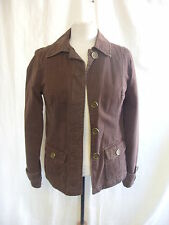 Ladies Coat - Merona, size XS, brown, cotton, lightly padded, casual, used 7810