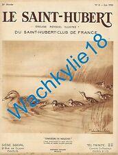 Le Saint-Hubert 06/1935 Chasse Gibiers d'eau douce