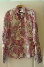 Ted Baker London 3 M Pink Purple White Paisley Auto Car French Cuff Button Shirt