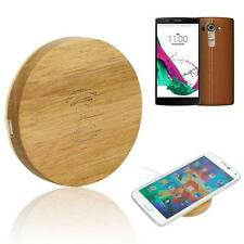 Universal Wooden Qi Wireless Charger Charging Pad Support for LG G4 For Samsung