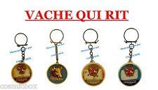 Lot 4 porte-clés publicitaires La VACHE QUI RIT Grosjean fromages pub keychain