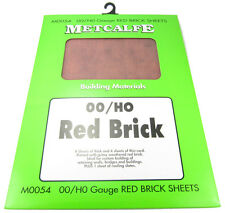 Metcalfe M0054 OO/HO Scale Red Brick Style Builder Sheets
