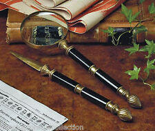 "DESK ACCESSORIES - ""KNIGHTSBRIDGE"" LETTER OPENER & MAGNIFYING GLASS DESK SET"