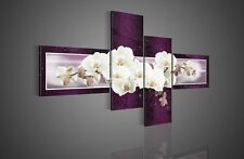 Modern Purple Orchid Hand Painted Oil Painting On Canvas Home Decor Wall Art