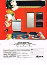 PUBLICITE  1966   NEFF  éléctroménager à encastrer
