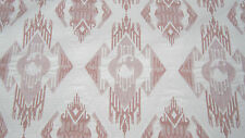 5.5m Pink & White Quality Damask Curtain Upholstery Fabric Material 136cmW NEW