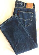 Levi 505 W40 L29 Blue Jeans Denim Levi Mens 40 x 29 Zipper Fly Straight Leg