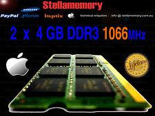 Apple 8GB 2 x 4GB DDR3 1066 mhz Memory 2009 2010 iMac Mac Mini MacBook Pro Ram