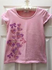 Authentic/JAPAN Limited~Women's BARBIE Silhouette Heart Bow PINK Crop T-SHIRT XS