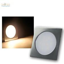 Slim LED Boden-Einbau-Leuchte warmweiß Alu matt 12V 0,5W IP67 trittfest Strahler