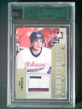 JOHN TAVARES  AUTHENTIC GAME-USED NAMEPLATE MEMORABILIA /20