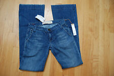NWT Blue Denim JOE'S Stretch Flare Jeans Embroidered Back Pockets 24