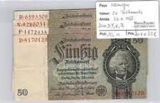 4 BILLETS ALLEMAGNE - 50 REICHSMARK - 30-3-1933  SERIES D F N R