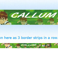BEN 10 personalised bedroom wallpaper BORDER STRIPS boys kids childrens name
