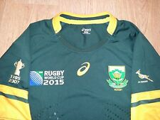 South Africa Springboks IRB 2015 World Cup Asics rugby shirt size XXL