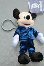 DISNEYLAND 60 60TH ANNIVERSARY DIAMOND COLLECTION MICKEY MOUSE PLUSH KEY CHAIN