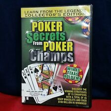 Poker Secrets from Poker Champs (DVD, 2004) Champions Collector's Edition