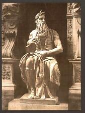 Statue By Michael Angelo The Seated Moses Rome A4 Photo Print