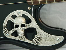 METAL SKULL PICKGUARD FITS FENDER P BASS precision guitar HAND MADE CUSTOM PARTS