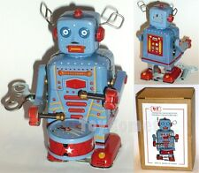 MS514 Musical Drummer Robot Clockwork Wind Up Tin Toy w/Box