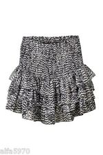 ISABEL MARANT H&M HM Ikat Pattern Ruffle Tiered Silk Skirt US 10 - NWT