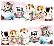 Nail Art Decals Transfers Stickers Cute Kittens (DA131)