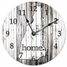 "NEW HAMPSHIRE RUSTIC HOME STATE CLOCK - Large 10.5"" Wall Clock - 2238"