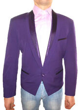 LICONA Mens Formal Wedding Tailored Satin Trim Wool Short Jacket Blazer sz50 Z32